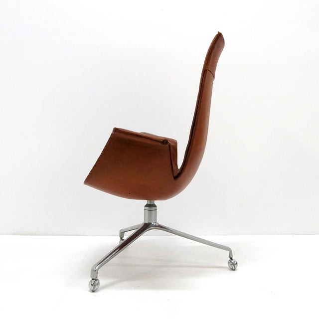 Leather 1960s Vintage Preben Fabricius Jorgen Kastholm Bird Chair For Sale - Image 7 of 12