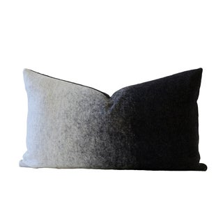 Grigio Black & Gray Designer Down Pillow