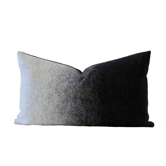 Grigio Black & Gray Designer Down Pillow For Sale