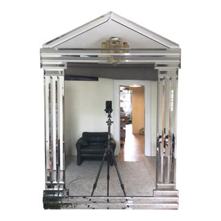 1990s Postmodern Pedimented Mirror For Sale