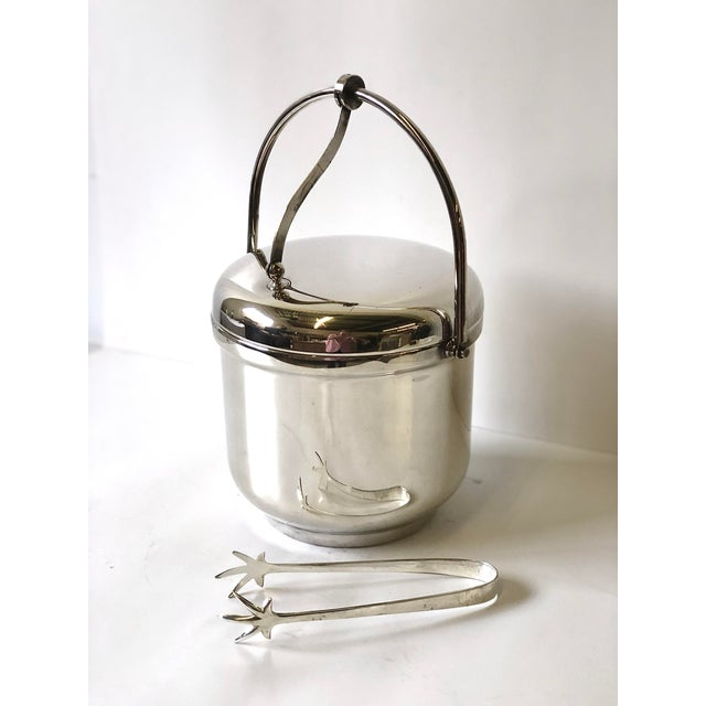 Silverplated Swing Top Ice Bucket and Tongs, Reed & Barton - a Pair For Sale - Image 13 of 13