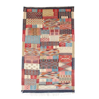 "Moroccan Berber Aknif Rug- 4'11"" x 8'2"" For Sale"