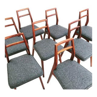 Set of 8 Dining Chairs by Mel Smilow For Sale