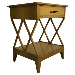 1950s Vintage Renzo Rutili for Johnson Furniture Nightstand For Sale