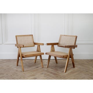 21st Century Jeanneret Style Accent Chairs- A Pair Preview