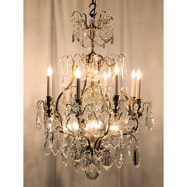 Exceptional antique french napoleon iii crystal and bronze antique french napoleon iii crystal and bronze chandelier circa 1890 image 3 of mozeypictures Images