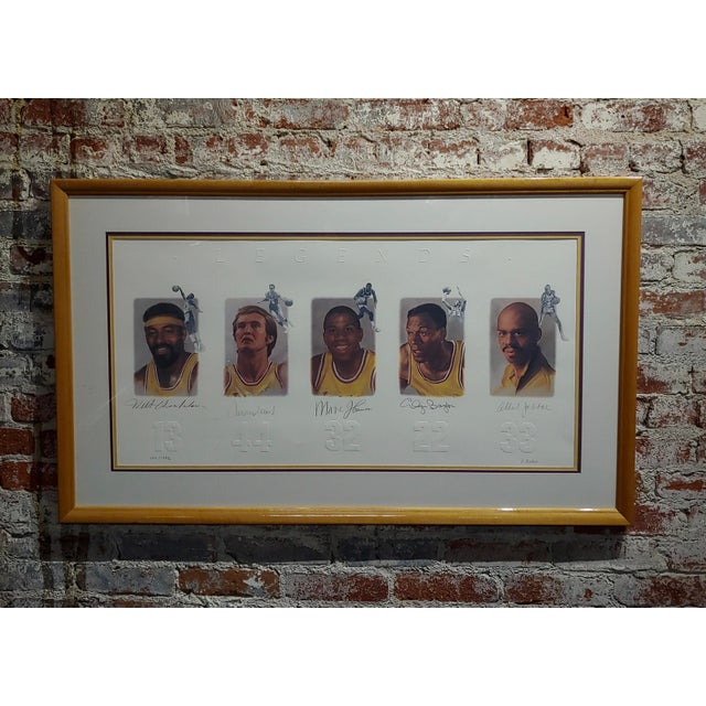 Los Angeles Lakers -Legends-Magic,West,Jabbar,Chamberlain-Signed Lithograph For Sale - Image 11 of 11