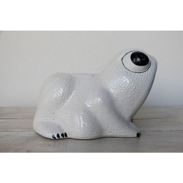 1970s Hobnail Frog Planter in the Style of Jean Roger For Sale - Image 6 of 13