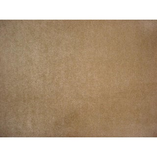 Kravet Couture Fawn Brown Wool Mohair Velvet Upholstery Fabric- 8 3/4 Yards For Sale
