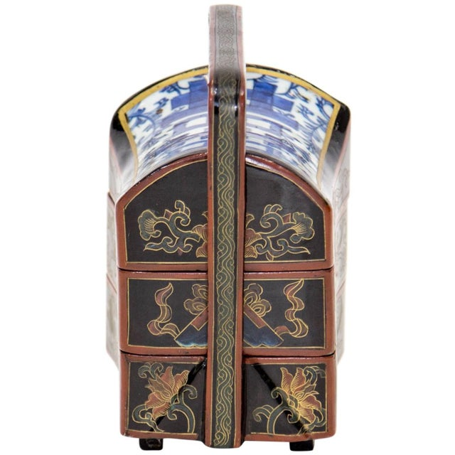 Mid 20th Century Chinese Lacquered Stacking Boxes For Sale - Image 5 of 8