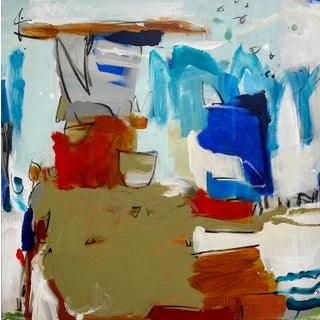 """Abstract Expressionist Mixed Media Painting by Gina Cochran """"Roshambo"""" For Sale"""