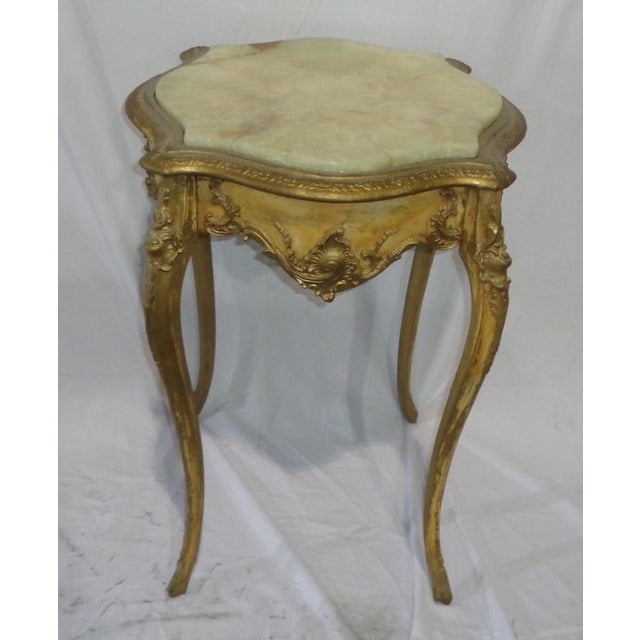 French Marble Top Side Table - Image 2 of 3