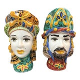 Image of Figurative Italian Sicilian Vases - a Pair For Sale