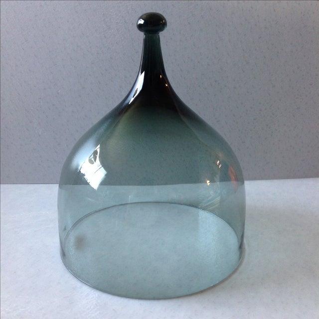 Hadeland Scandinavian Green Glass Cheese Bell - Image 2 of 7