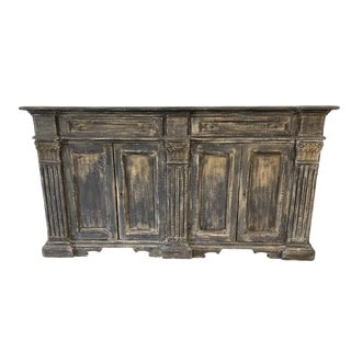 Tuscan Painted Buffet Sideboard Credenza - Early 20th C For Sale