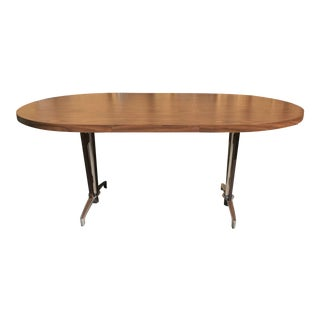 Vintage Mid-Century Modern Chromecraft Dining or Conference Table For Sale