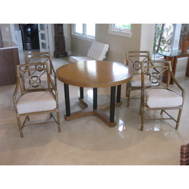 McGuire Target Bamboo Chairs & Dining Table - Set of 5 - Image 8 of 8
