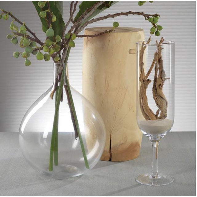 The Tokima Mouth Blown Glass Vase The perfect vase to create your organic display in...perfect for large floral stems and...