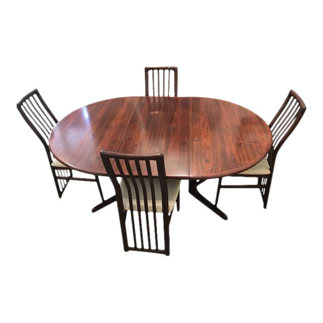 Kai Kristiansen Rosewood Dining Set For Sale