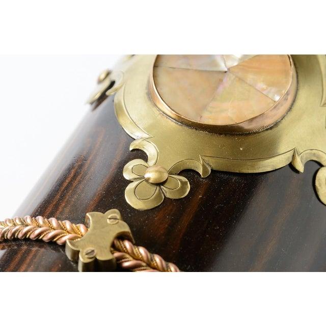 Metal Coromandel Wood Box For Sale - Image 7 of 8