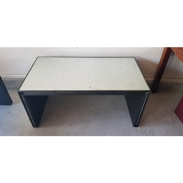 Early 21st Century Contemporary Mirrored Waterfall Coffee Table For Sale - Image 5 of 7