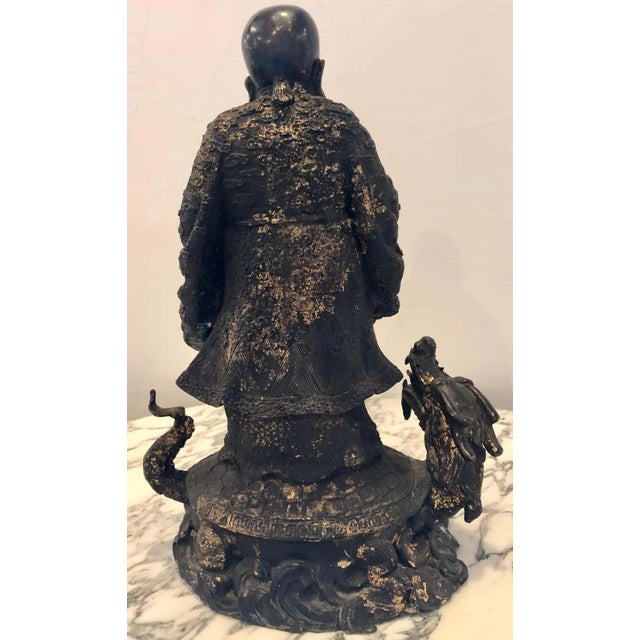 18th-19th Century Figure One of the Three Gods of Good Fortune For Sale - Image 12 of 13