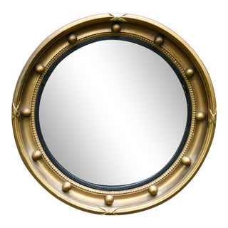 Vintage English Convex Porthole Bullseye Mirror For Sale