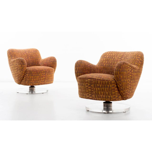 Vladimir Kagan Lucite Swivel Chairs For Sale - Image 10 of 12