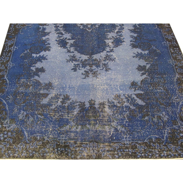 "Vintage Overdyed Turkish Rug - 6'6"" X 9'10"" - Image 2 of 6"