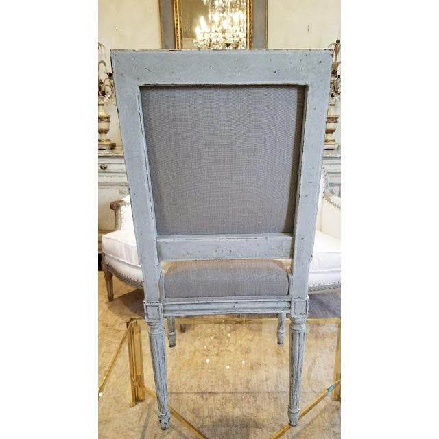 Mid 19th Century Set of 10 Louis XVI Style Dining Chairs For Sale - Image 5 of 8