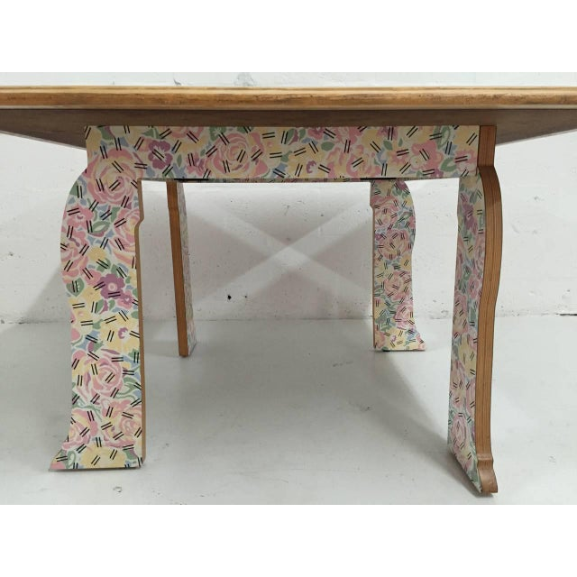 """1980s Robert Venturi """"Cabriole Leg"""" Table for Knoll For Sale - Image 5 of 8"""