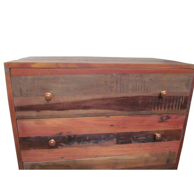 Vern Rustic Wooden 5 Drawer Chest for Bedroom For Sale - Image 4 of 8