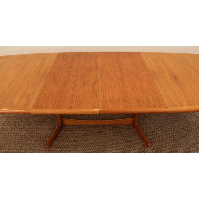Laurits M. Larsen Mid-Century Danish Modern Extendable Teak Dining Table - Image 7 of 10