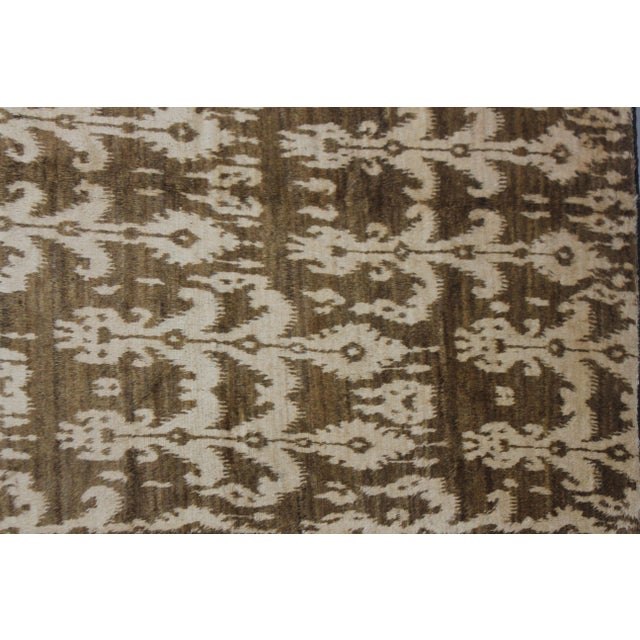 Hand Knotted Modern Ikat Rug - 5′ × 10′5″ For Sale - Image 5 of 5