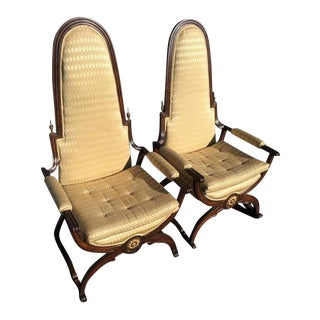 Hollywood Regency Throne Chairs - a Pair For Sale
