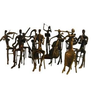 Bernard Kim Complete Orchestra Bronze Musician Sculptures - Set of 10 For Sale