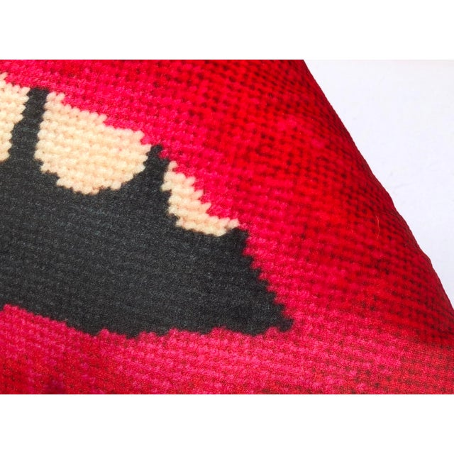 "Velvet ""Embrasse Moi"" Lips 24"" Feather Down Sculpted Pillow, Original Design Custom Made For Sale - Image 4 of 10"
