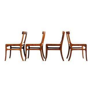 Rosewood Rungstedlund Dining Chairs by Ole Wanscher for PJ Denmark - Set of 4 For Sale