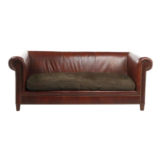 Late 20th Century Ej Victor Leather Sofa For Sale
