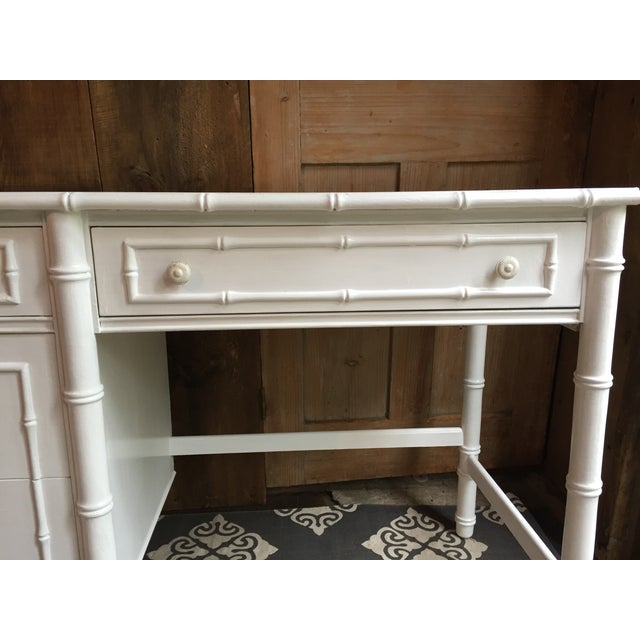 Thomasville Faux Bamboo Desk - Image 3 of 4