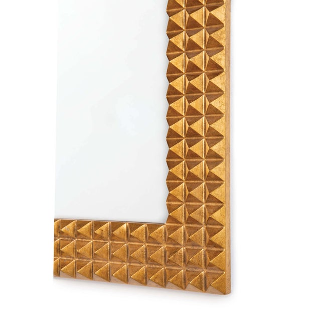 Rock n' roll with our Pantera mirror, highlighted by a spiked frame in Gold Leaf. Consider installing this showpiece at...