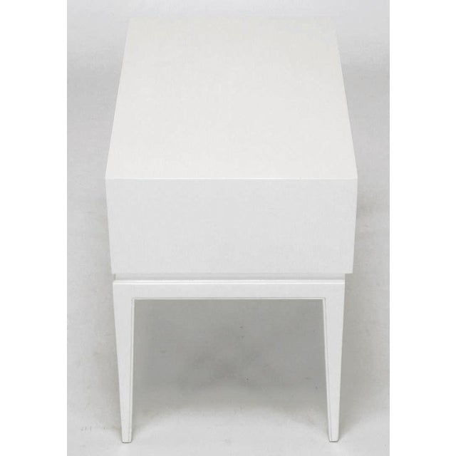 Wood Tommi Parzinger White Lacquered Nightstand For Sale - Image 7 of 10