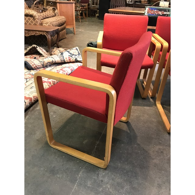 J.G. Furniture Red Laminate Chairs -Set of 6 For Sale - Image 5 of 11