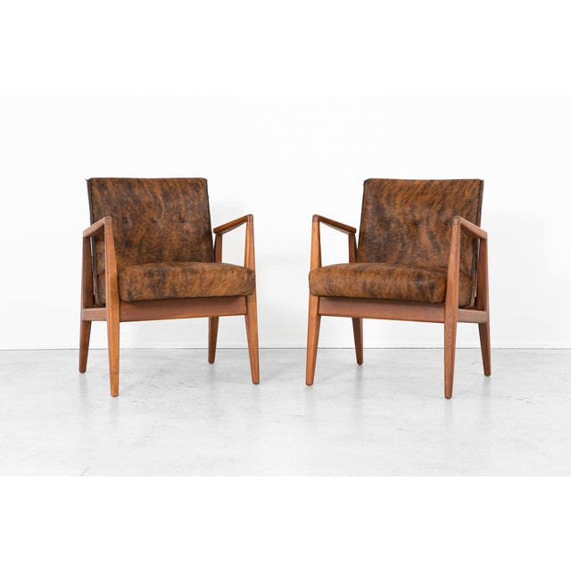 Mid-Century Modern Set of Jens Risom Lounge Chairs For Sale - Image 3 of 12