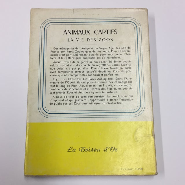 "French ""Animaux Captifs French Zoos"" 1954 Book For Sale - Image 3 of 11"