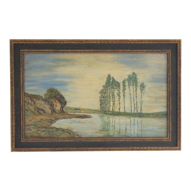1930s Vintage Framed Fauvist Oil on Board Landscape Painting For Sale