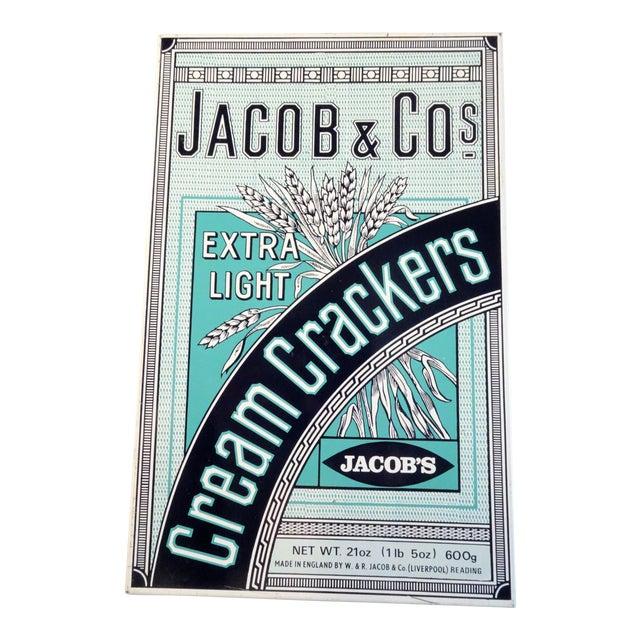 Vintage 'Jacob & Co' Tin Cracker Box For Sale