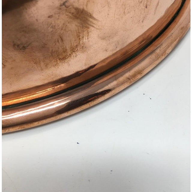 Large Copper Mixing Bowl For Sale - Image 9 of 11