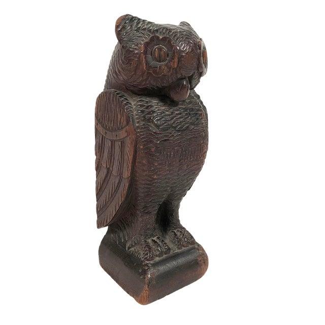 Folk Art Carved Owl For Sale