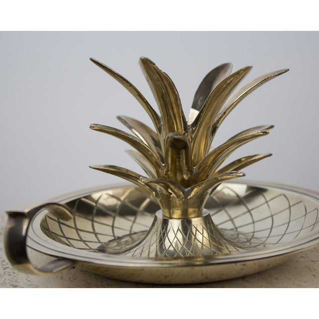 Brass Brass Pineapple Candlestick Lamp Holder For Sale - Image 7 of 10